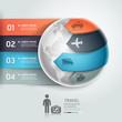 Abstract globe infographics travel transportation element