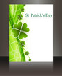 St patricks day Brochure wave reflection white vector