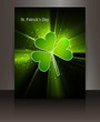 St patricks day Brochure swirl wave reflection vector design