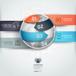 Abstract globe infographics network technology element template.