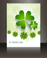 St patricks day Brochure beautiful business green reflection ill
