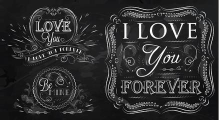 Love forever chalk