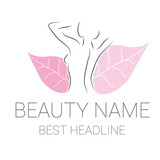 beauty logo vector pink