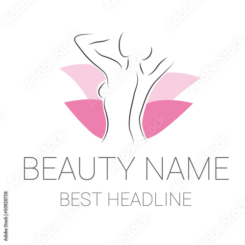 Woman Within Logo Beauty Woman Vector Logo