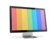 Computer Monitor with rainbow