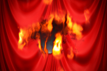 Brennender Vorhang