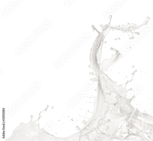 Milk splash, isolated on white background