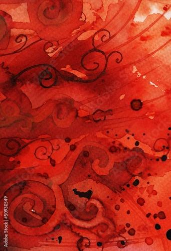 Fototapeten,rot,hintergrund,wasserfarben,malen