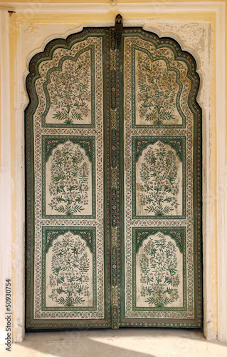 ornamental door in palace - India