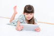 Child with tablet computer