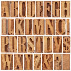 letterpress wood type alphabet