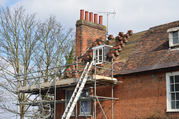 House Roof awaiting repair