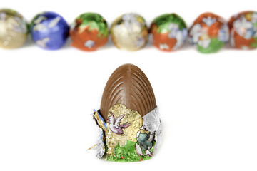Easter Eggs isolated in white background.