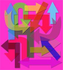 frecce multicolori