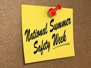 National Summer Safety Week