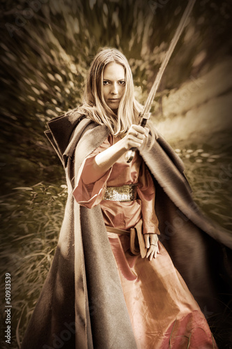 woman warrior with sword