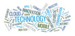 Technology word cloud illustration