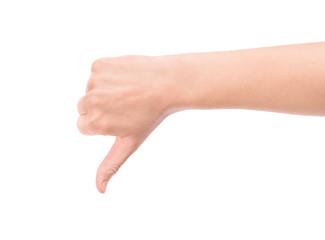 Thumb down hand