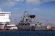 German frigate tied up in the port of Alicante