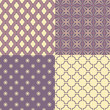 Set of four seamless abstract patterns
