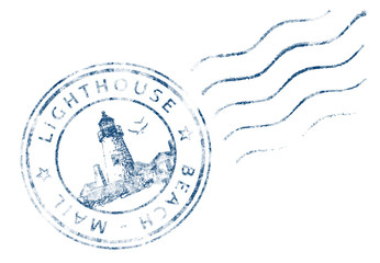 Stempel Lighthouse Beach Mail