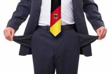 leere Taschen - Deutschland