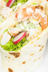 Tortilla Wrap with prawn or shrimps