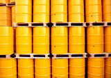 Yellow oil drums