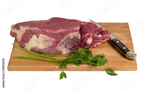 Raw meat on a cutting board