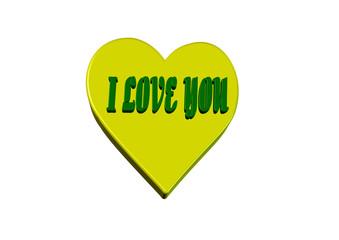 Love sarı kalp