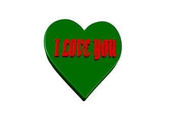 Love yeşil kalp