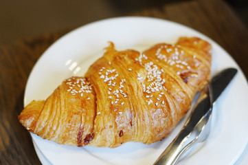 French breakfast: croissant