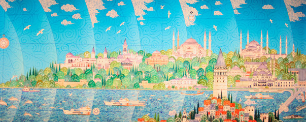 Miniature painting of Istanbul