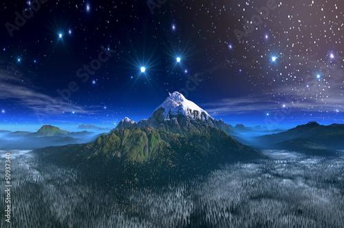 Fototapeten,berg,kopf,snow-covered,landschaft