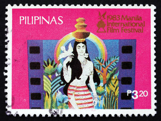 Postage stamp Philippines 1983 Native girl