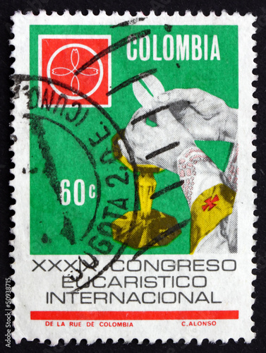 Postage stamp Colombia 1968 The Eucharist