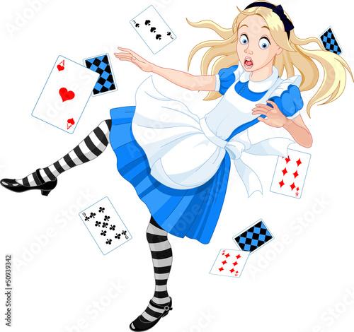Staande foto Magische wereld Falling Alice
