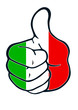 italy Thumb judgement up positiv
