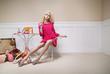Fototapete Modellieren - Abspecken - Frau