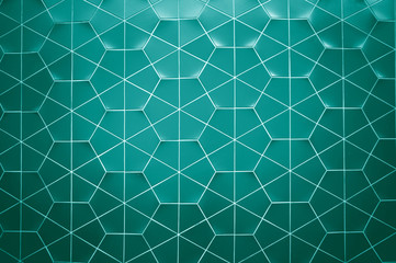 Hexagon ceramic wall texture