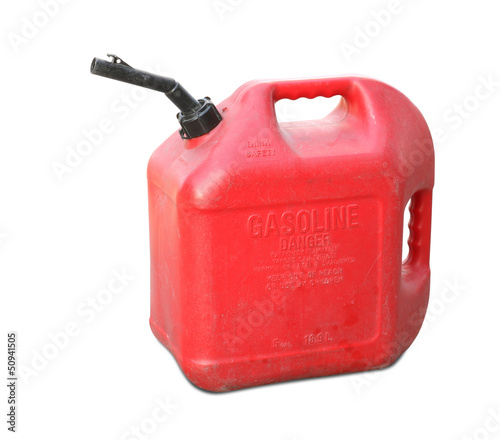 Leinwanddruck Bild Gasoline tank isolated on white background