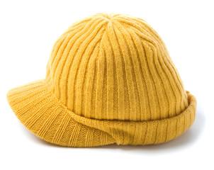 Yellow knit cap beanie
