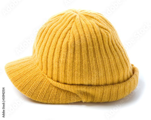 Yellow knit cap beanie