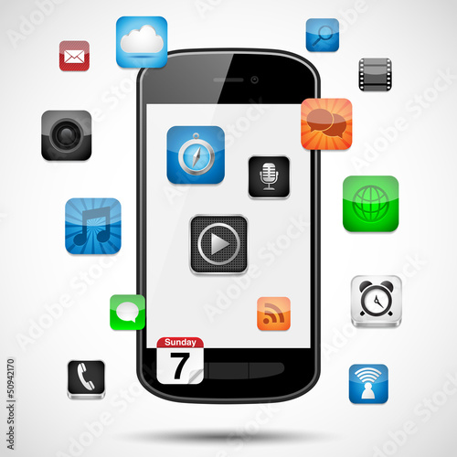 Smartphone with Floating Apps