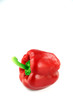 Red Bell peppers Three colors on white Background.