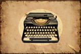 Retroplakat - Machine zum Schreiben