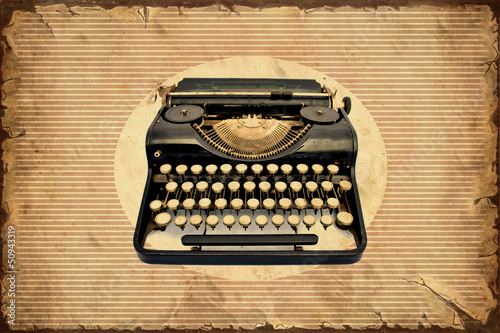Papiers peints Affiche vintage Retroplakat - Machine zum Schreiben