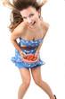 junge Frau mit Erdbeeren