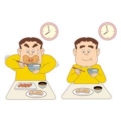 比較_食事の時間