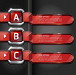 Red Buttons Website Style Number Options Banner & Card Backgroun